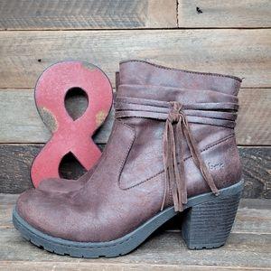 Comfortable BOC Brown Fabric Full Zip Boots